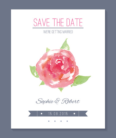 Wedding invitation card.  no transparency. No gradients. Blend. Vector