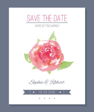 Wedding invitation card.  no transparency. No gradients. Blend. Vector