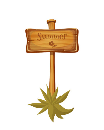 wooden post: Wooden sign post. EPS 10. Transparency. Gradients. Illustration