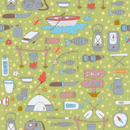 Seamless outdoor pattern Vector