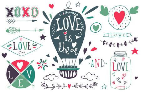 Valentines day design elements. EPS 10.