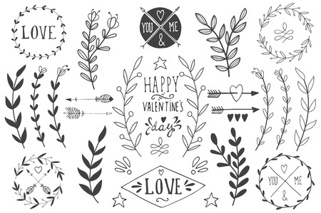 Valentines day design elements. EPS 10.