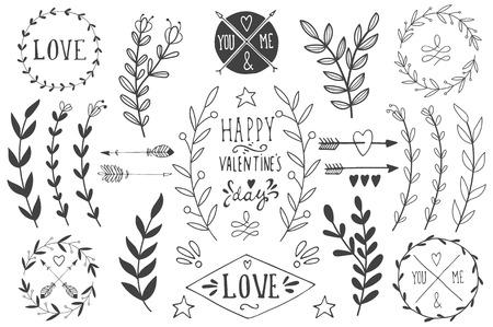 heart arrow: Valentines day design elements. EPS 10.