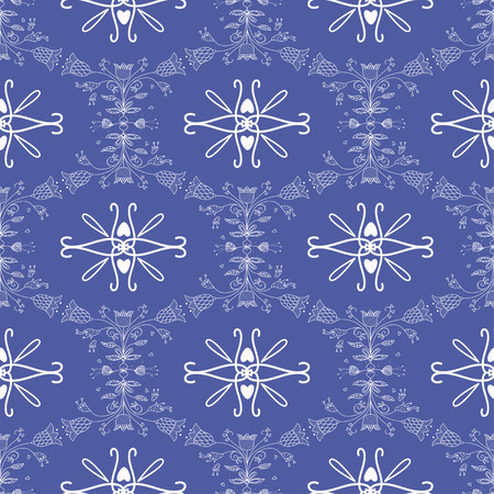delftware: Seamless pattern with Dutch ornaments