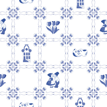 Seamless pattern with Dutch ornaments Banco de Imagens - 35712725