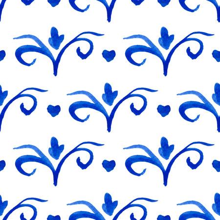 delftware: Seamless pattern con ornamenti olandesi