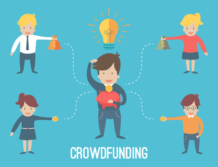 Crouwdfunding concept infographic