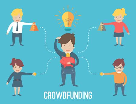 Crouwdfunding Konzept Infografik Standard-Bild - 36525119