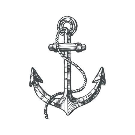 Hand drawn illustration of an anchor Reklamní fotografie - 37312505