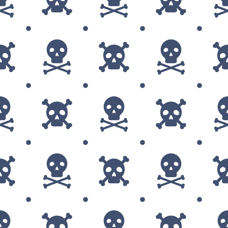 abstract danger: Seamless pattern with skulls
