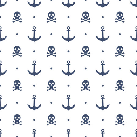 Seamless pattern with anchors and skulls 版權商用圖片 - 37862533