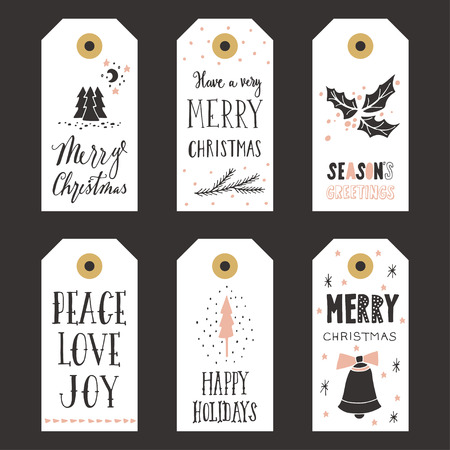Vintage Christmas gift labels