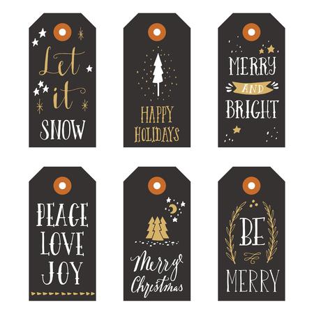 vintage sign: Vintage Christmas gift tags