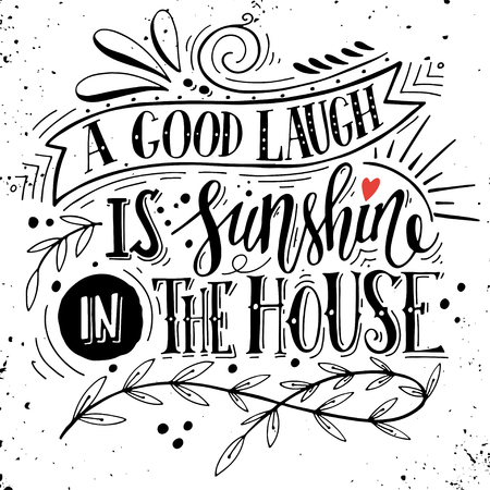 Quote. Hand drawn vintage print with hand lettering. This illustration can be used as a print on t-shirts and bags or as a poster. Vettoriali