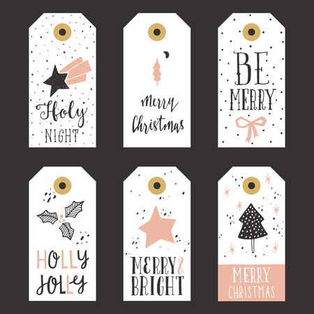 lettering: Vintage Christmas gift tags