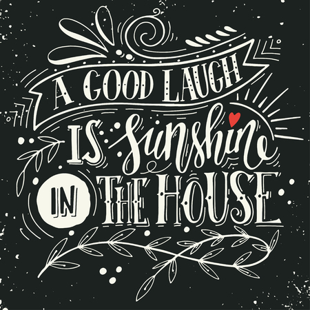 Quote. Hand drawn vintage print with hand lettering. This illustration can be used as a print on t-shirts and bags or as a poster. Vectores