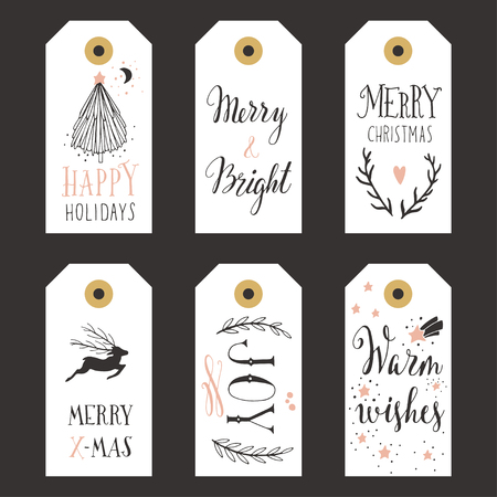 Vintage Christmas gift labels