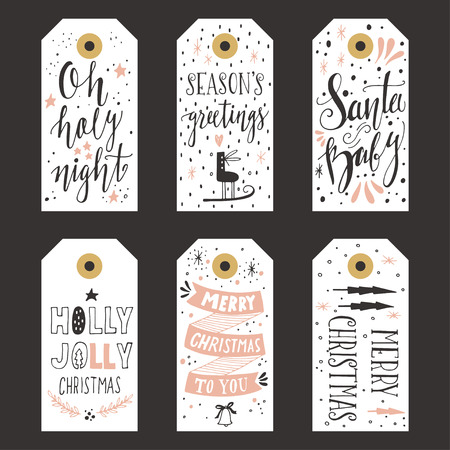 Vintage Christmas gift tags Stock fotó - 47433904