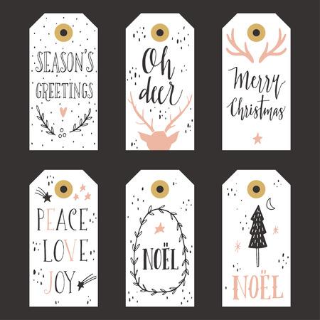 greeting card: Vintage Christmas gift tags