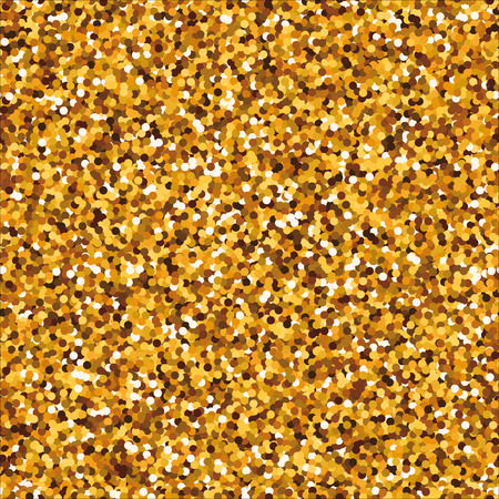 separated: Sparkling golden seamless pattern with round separated particles.