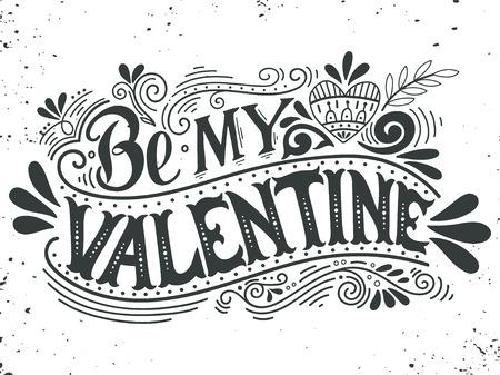 내 발렌타인 수 있습니다. 장식 요소 핸드 레터링. 이 그림은 발렌타인 데이 또는 결혼식 또는 인쇄 또는 포스터로 인사말 카드로 사용할 수 있습니다. 일러스트