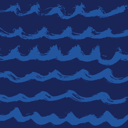 decorative lines: Hand drawn wave vector pattern Illustration