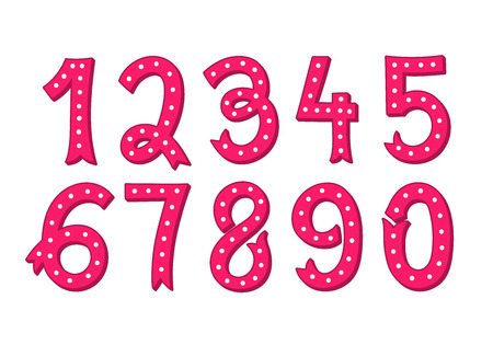 Hand drawn vintage numbers set 版權商用圖片