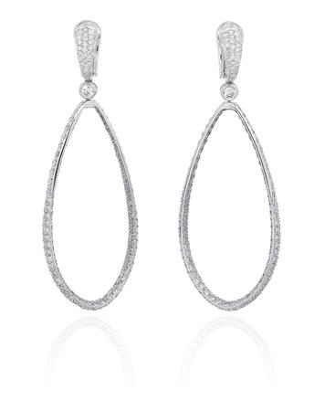 Diamond hoop earrings Stock Photo - 15967733