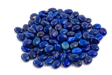 Pile of lapis lazuli beads  photo