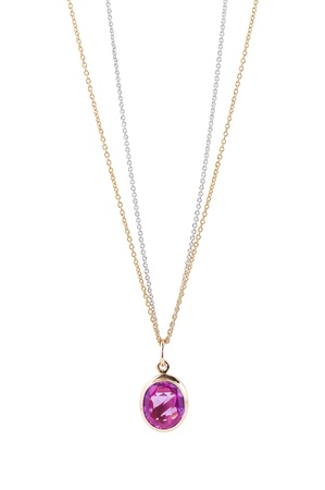 Pink sapphire necklace