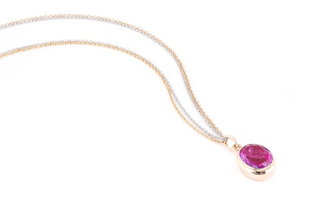 Pink sapphire necklace Stock Photo - 15967708