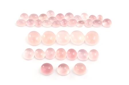 rose quartz: Rose quartz cabochons