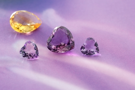 precious stone: Group of gemstones with artistic background  Stock Photo