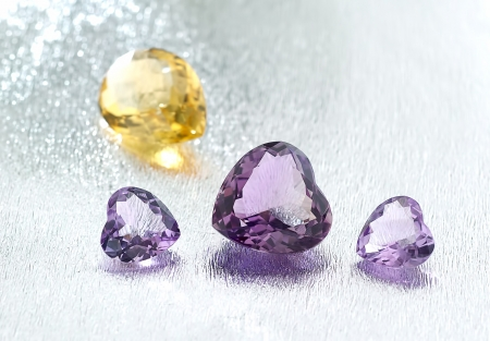Group of gemstones with artistic background  Stock Photo