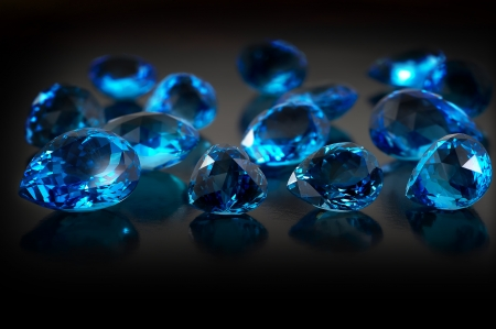 Group of topaz gemstones on dark background  Stock Photo - 15967746