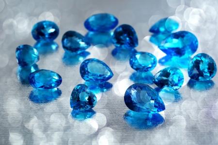 Group of topaz gemstones  Stock Photo
