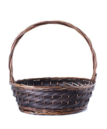 Empty wicker basket isolated on white background Stock Photo - 15968062