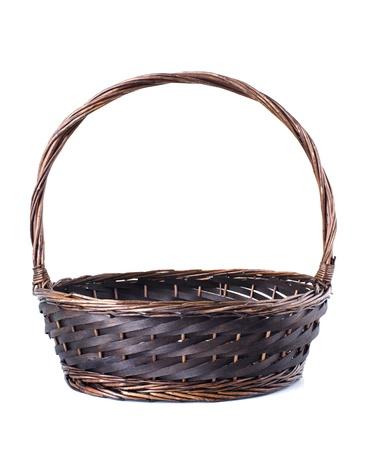 Empty wicker basket isolated on white background Stock Photo - 15968062