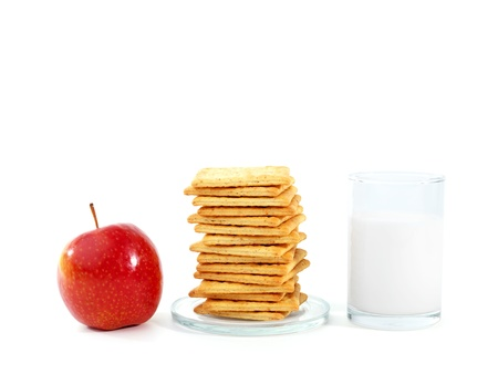 Healthy breakfast, isolated on white  Stock Photo