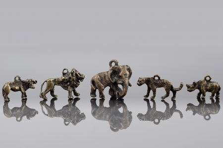 Group of African animals beads