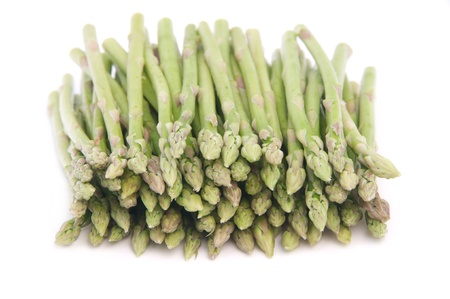 Baby asparagus isolated on white background