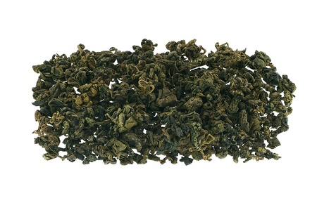 Jiaogulan Chinese green tea isolated on white background.