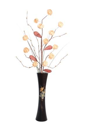 Ikebana set isolated on white background