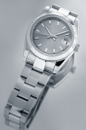 wrist watch: Wrist watch with reflection  Stock Photo