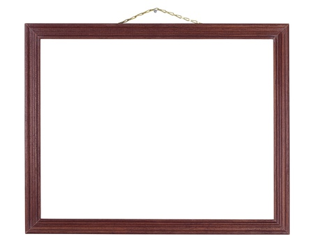 Red wood frame hanging on a chain Stock Photo - 15968331