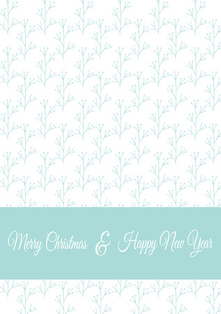 winter flower: Vector Christmas card template with winter flower branches. Floral greeting postcard, part of Christmas collection. Can be used for printing, invitations, scrapbooking, calendars etc. Illustration