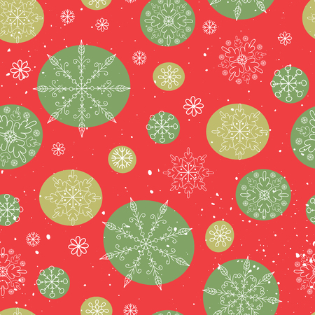 background part: Seamless vector pattern with snowflakes. Abstract winter background, part of Christmas Toys collection. Can be used for wallpaper, scrapbooking, fabric prints, New Years and Christmas designs.