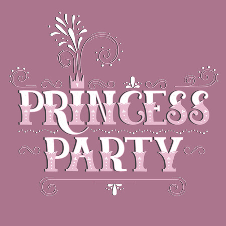 Vector hand drawn lettering princess party ornate retro vintage vector vector hand drawn lettering princess party ornate retro vintage style calligraphy for greeting cards and invitations posters t shirt print m4hsunfo