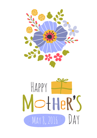 Cute greeting card template for mothers day holiday floral design cute greeting card template for mothers day holiday floral design for greeting cards brochures m4hsunfo