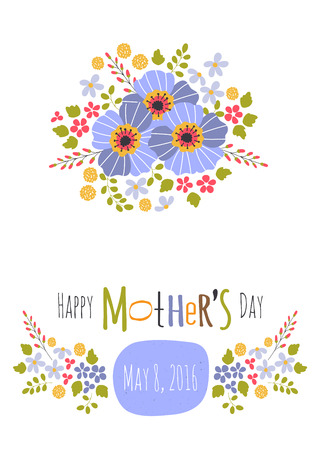 Greeting card template for mothers day holiday floral design greeting card template for mothers day holiday floral design for greeting cards brochures m4hsunfo